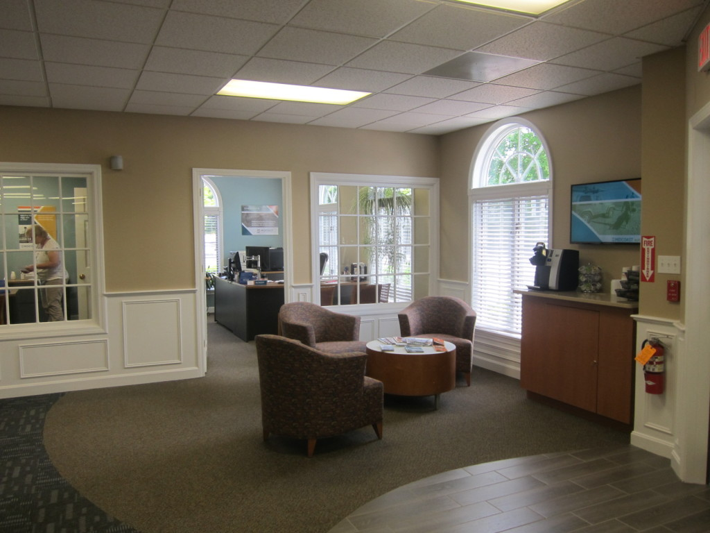 Sitting area of Midcoast Federal Credit Union